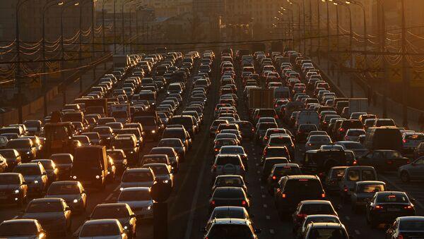 Doprávní zácpa v Moskvě. Ilustrační foto - Sputnik Česká republika