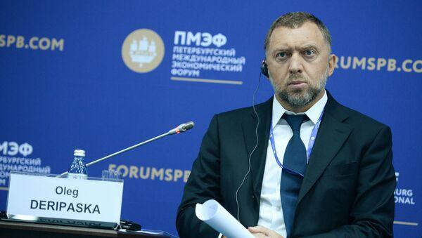 Prezident společnosti Rusal Oleg Deripaska na 20. petrohradském mezinárodním ekonomickém fóru - Sputnik Česká republika