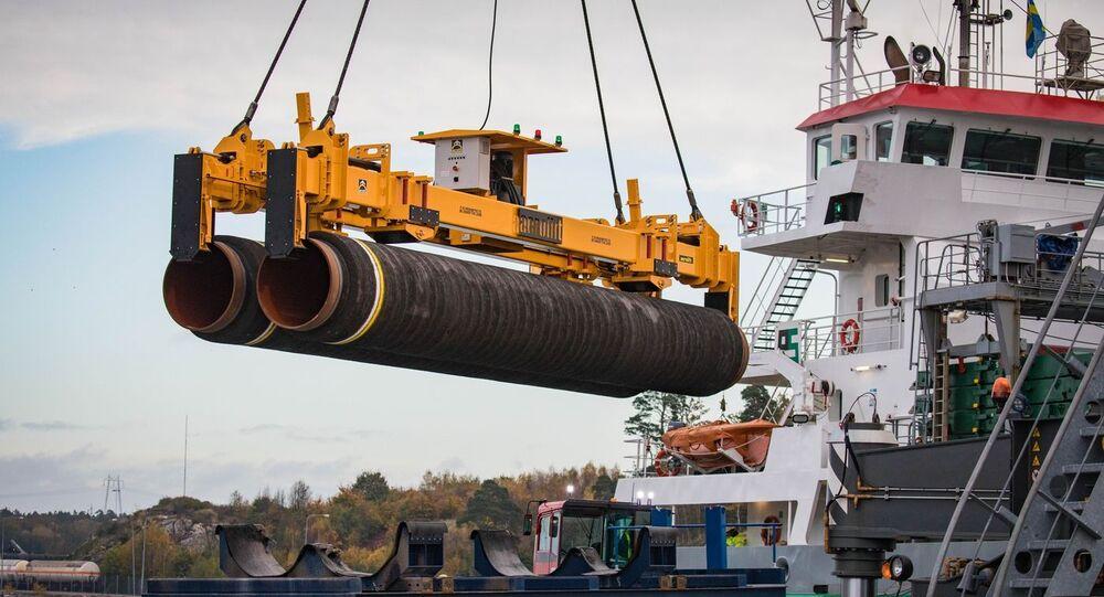 Potrubí pro Severní proud 2 v Německu