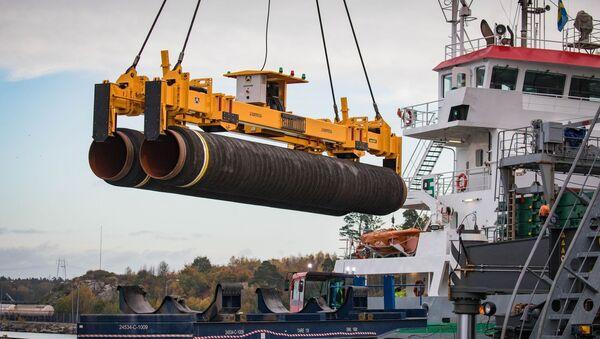 Potrubí pro Nord Stream 2 v Německu - Sputnik Česká republika