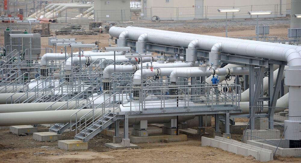 Úsek plynovodu Severní proud v Německu