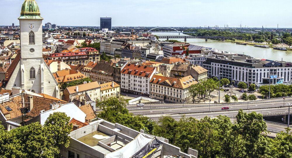 Pohled na Bratislavu, Slovensko. Ilustrační foto