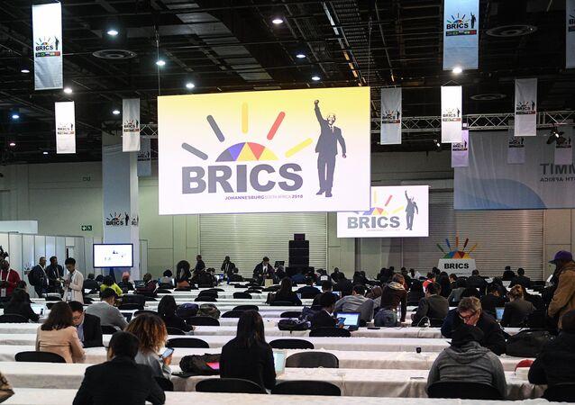 Tiskové středisko na summitu BRICS v Johannesburgu