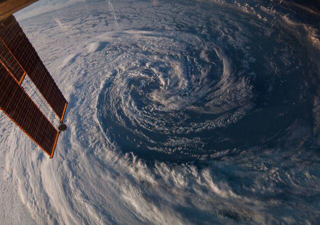 Snímek Země z Mezinárodní vesmírné stanice.