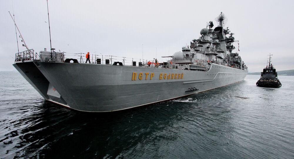 Ruský raketový křižník Petr Veliký
