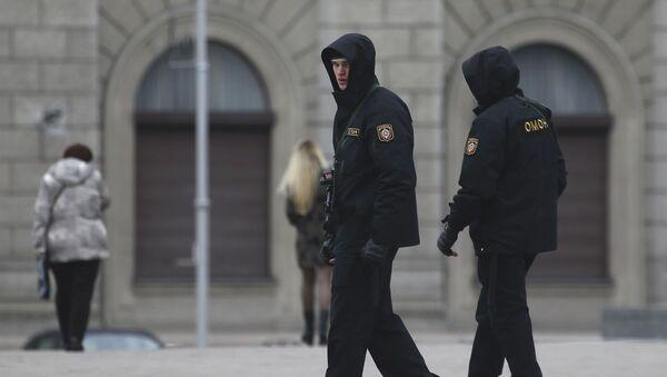 Policisté v Mincsku - Sputnik Česká republika