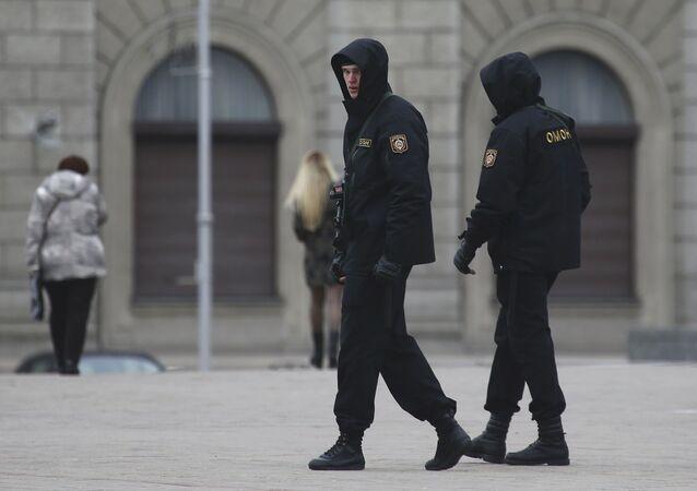 Pořádkové síly v Minsku