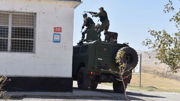 Vojenská cvičení na ruské základně v Tadžikistánu - Sputnik Česká republika