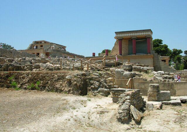 Knóssos na Krétě