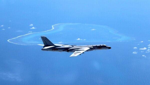 Čínský bombardér Xian H-6K. Ilustrační foto - Sputnik Česká republika
