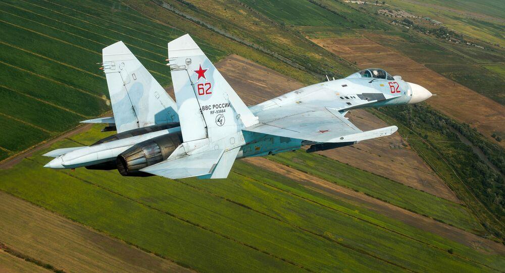 Stíhačka Su-27 ruských vzdušných sil