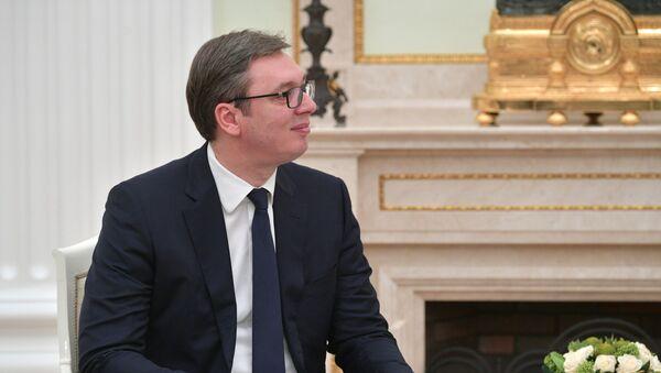 Srbský prezident Aleksandar Vučić - Sputnik Česká republika