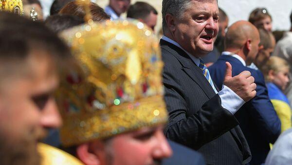 Petro Porošěnko během průvodu u příležitosti 1030. výročí Pokrštění Rusi - Sputnik Česká republika