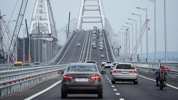 Automobilová část Krymského mostu - Sputnik Česká republika