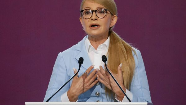 Vůdkyně politické strany Baťkyvščyna Julia Tymošenková - Sputnik Česká republika