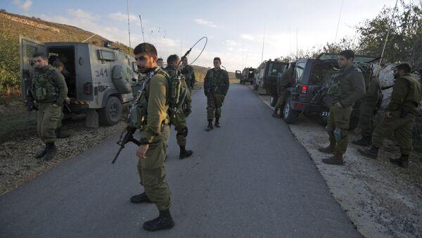 Izraelští vojáci na hranici s Sýrií - Sputnik Česká republika