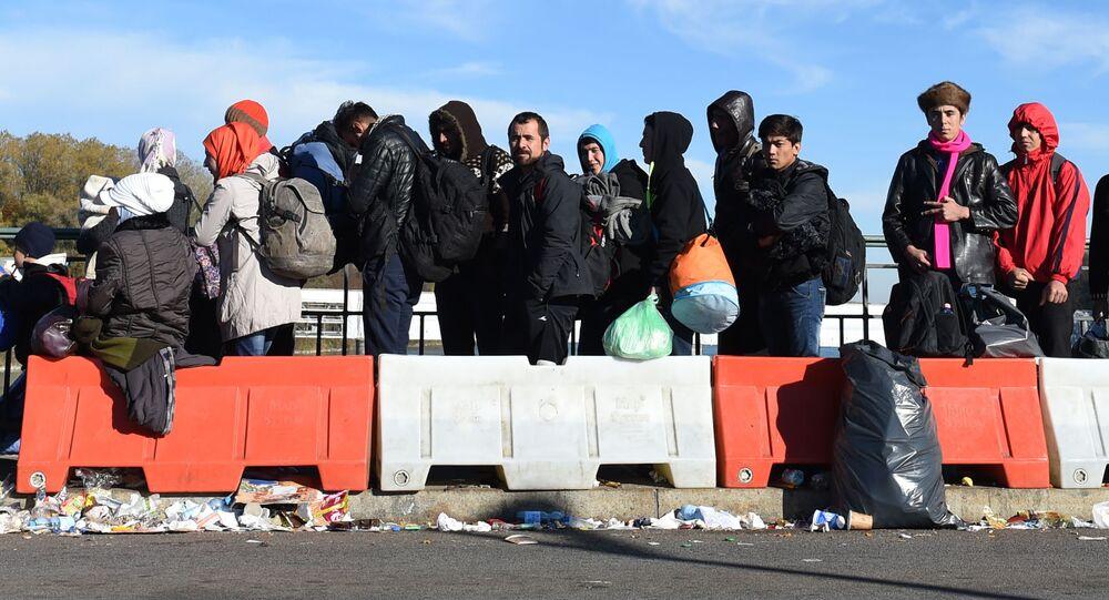 Migranti na hranici Rakouska a Německa