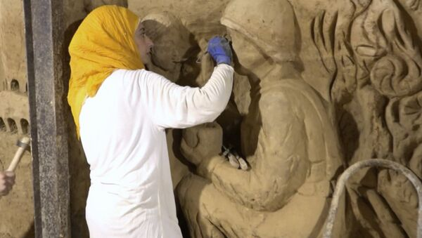 Obraz války. Syřané změnili tunely teroristů na umělecké dílo - Sputnik Česká republika