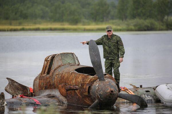 Ze dna do nebe. Za Velké vlastenecké války sestřelený Il-2 znovu poletí - Sputnik Česká republika