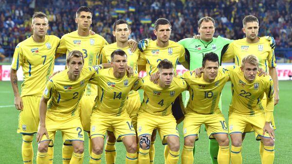 Ukrajinská reprezentace před zápasem s Tureckem, 2017 - Sputnik Česká republika