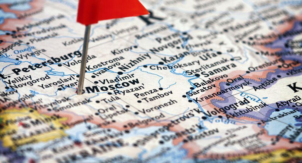 Moskva na mapě Ruska