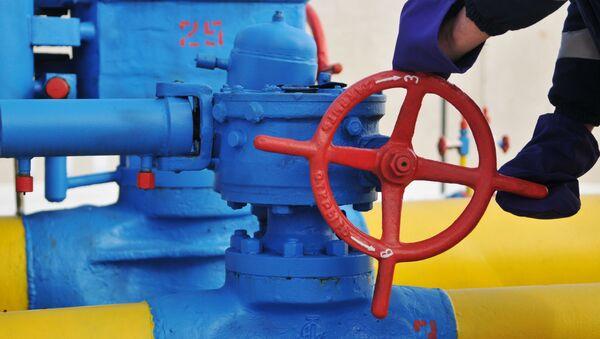 Ventil na plynovodu ve Lvovské oblasti. Ilustrační foto - Sputnik Česká republika