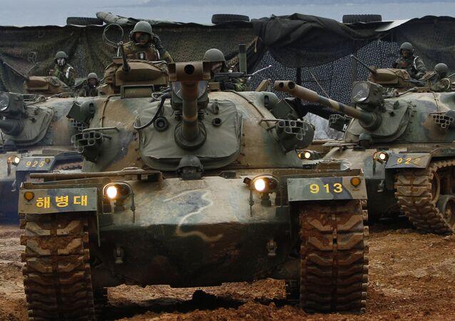 Tanky M48. Ilustrační foto