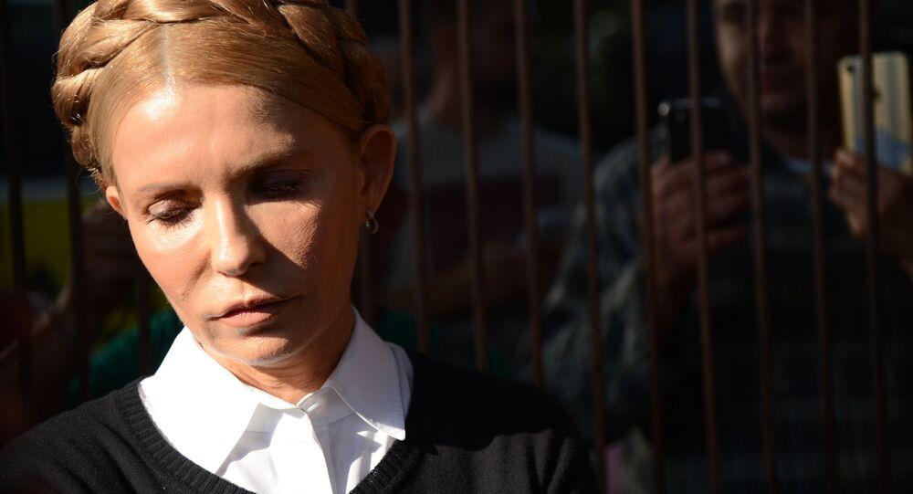 Předsedkyně politické strany Baťkivščyna Julija Tymošenková