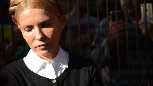 Předsedkyně politické strany Baťkivščyna Julija Tymošenková - Sputnik Česká republika