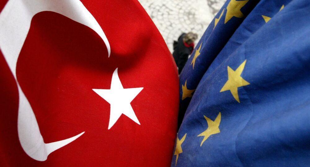 Vlajka Turecka a Evropské unie