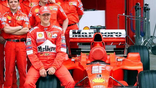 Legendární pilot Formule 1 Michael Schumacher ještě v barvách Ferrari - Sputnik Česká republika