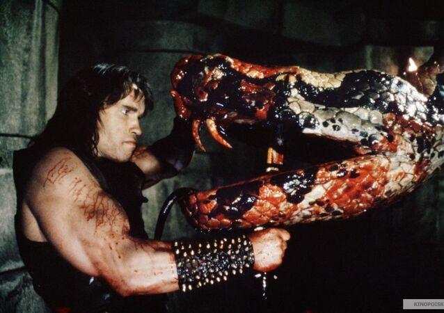 Záběr z filmu Barbar Conan