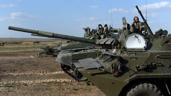 Taktické cvičení ruských vojáků Jižního vojenského okruhu - Sputnik Česká republika