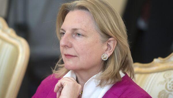 Ministryně zahraničních věcí Rakouska Karin Kneisslová - Sputnik Česká republika
