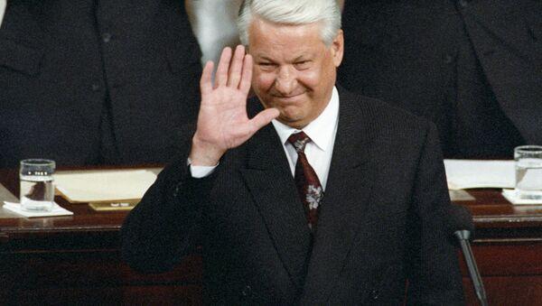 Bývalý ruský prezident Boris Jelcin v Kongresu USA, 1992 - Sputnik Česká republika