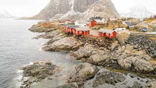 Tradiční rudé domky v Norsku - Sputnik Česká republika