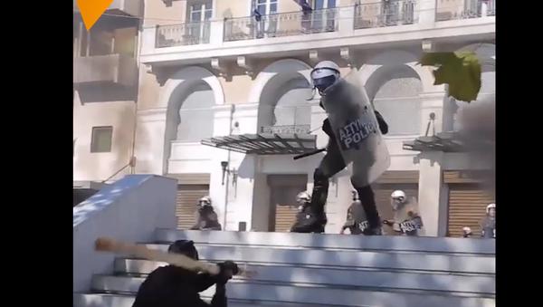 Jak to bylo. Záběry protestů během dluhové ekonomické krize v Řecku - Sputnik Česká republika
