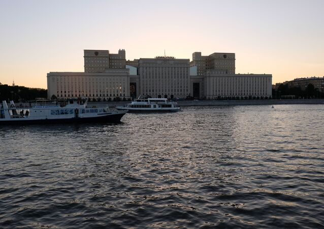 Budova ruského ministerstva obrany v Moskvě