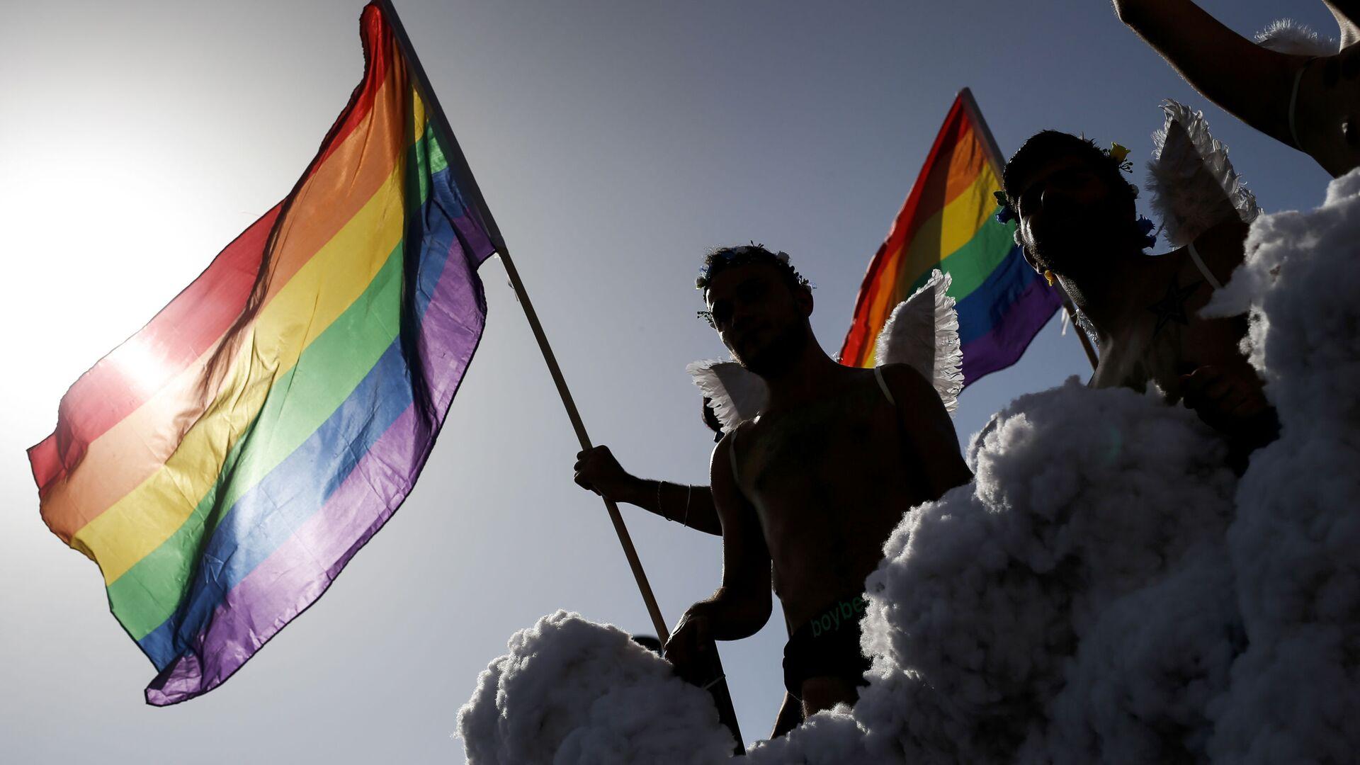 Účastníci pochodu LGBT v Španělsku. Ilustrační foto - Sputnik Česká republika, 1920, 25.02.2021
