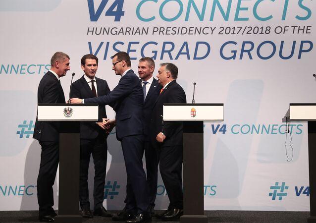 Andrej Babiš, Sebastian Kurz, Mateusz Morawiecki, Peter Pellegrini a Viktor Orbán