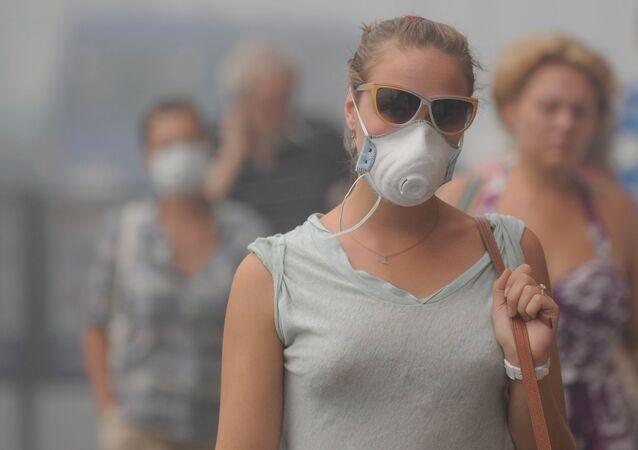 Smog v Moskvě v roce 2010