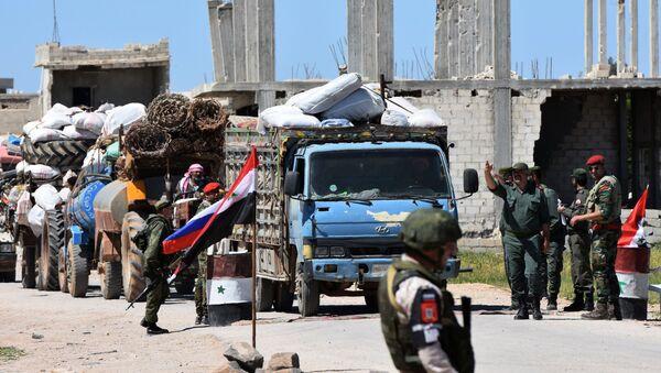 Humanitární konvoj v Idlibu - Sputnik Česká republika