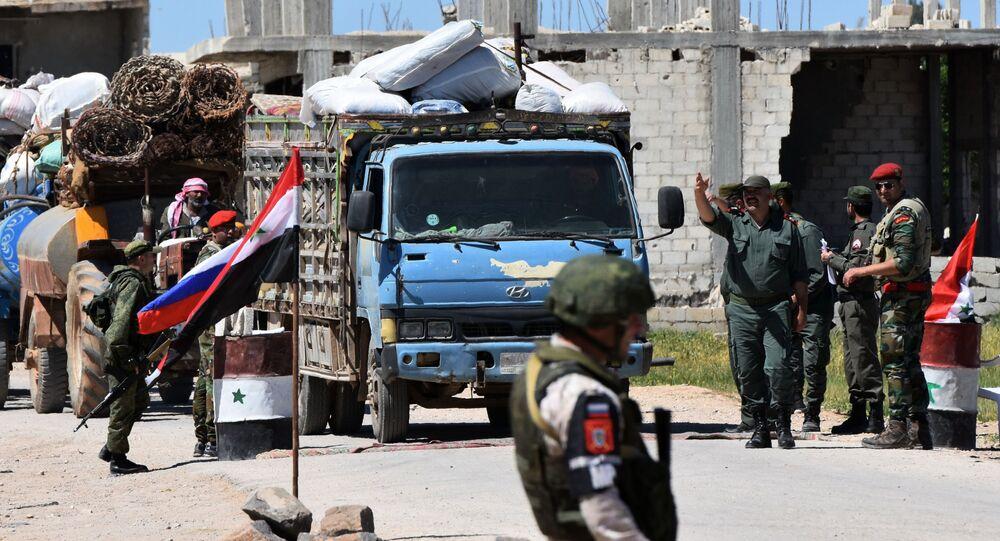 Humanitární konvoj v Sýrii
