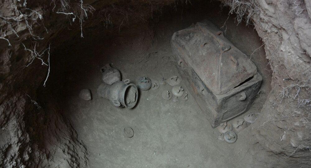 Hrobka nalezená v oblasti Ierapetra na Krétě