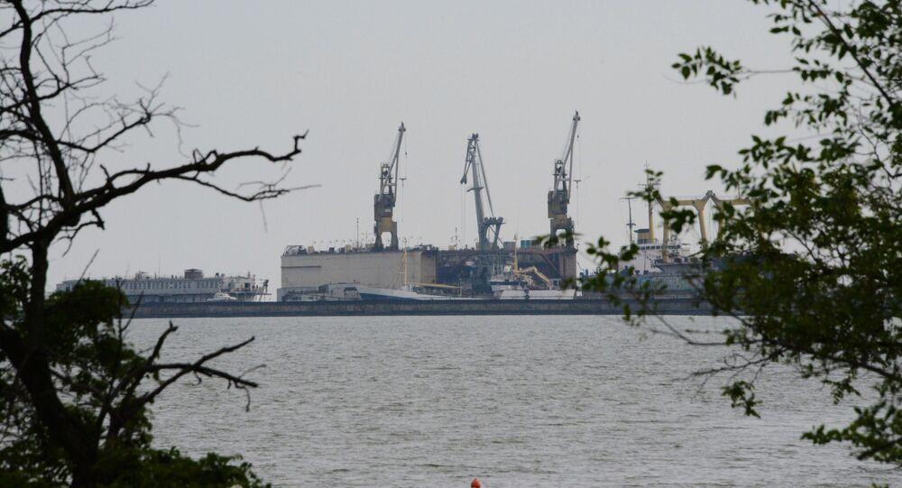 Přístav v Mariupolu, Ukrajina