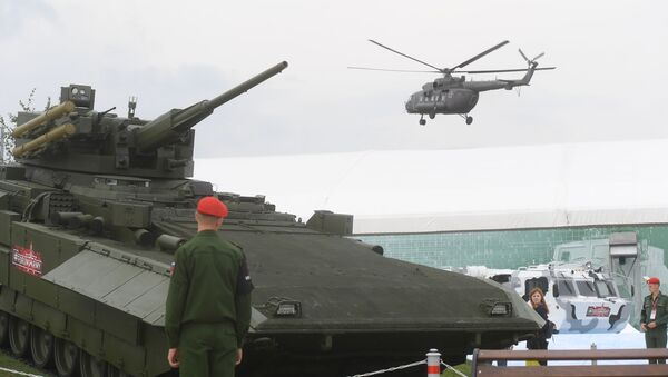 Bojové vozidlo pěchoty nové generace T-15 - Sputnik Česká republika