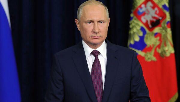 Президент России Владимир Путин во время обращения к участникам и гостям Международного военно-технического форума Армия-2018 - Sputnik Česká republika