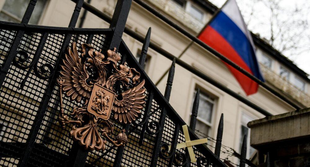 Ruské velvyslanectví v Londýně.