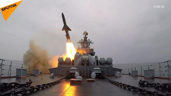 Střelby raketami s plochou dráhou letu v rámci cvičení Tichooceánského  loďstva - Sputnik Česká republika