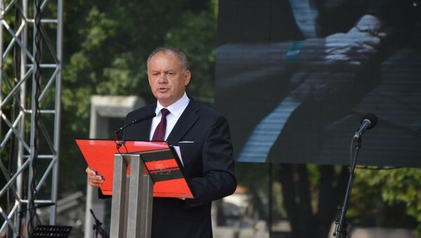 Slovenský prezident Andrej Kiska během oslav SNP - Sputnik Česká republika